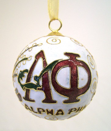 APhi Round Wt Ornament