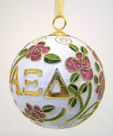 AXiD Round Wt Ornament