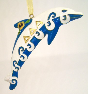 DDD Dolphin Ornament