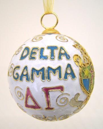 DG Round Wt Ornament