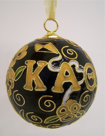 Theta Round Color Ornament