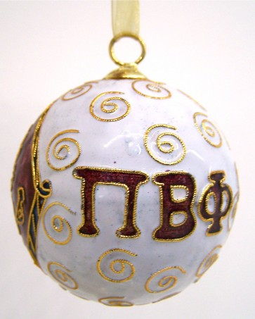 PiPhi Round Wt Ornament