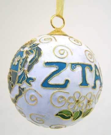 ZTA Round Wt Ornament