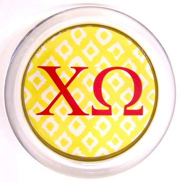 ChiO Decoupage Jewelry Dish - Yellow Ikat