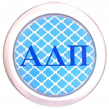 ADPi Decoupage Coaster - Blue Trellis