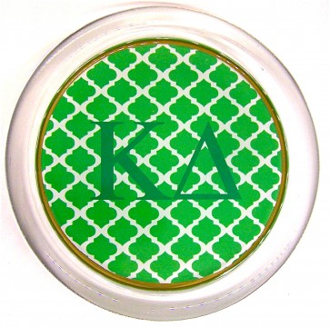 KD Decoupage Coaster - Green Trellis