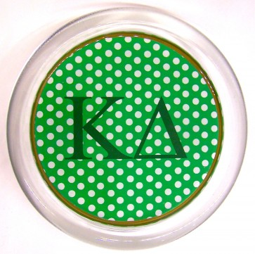 KD Decoupage Coaster - Green Polka Dot