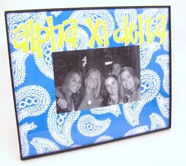 Paisley Picture Frame - Alpha Epsilon Phi