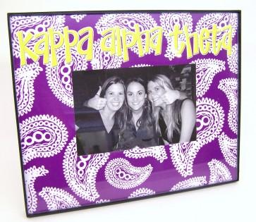 Paisley Picture Frame - Kappa Alpha Theta