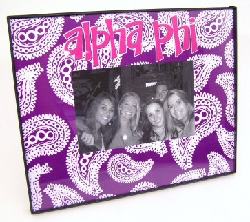 Paisley Picture Frame - Alpha Phi