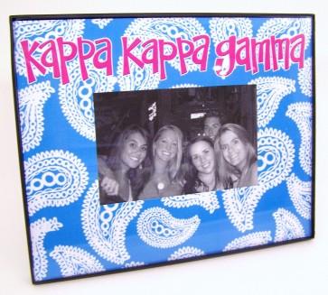 Paisley Picture Frame - Kappa Kappa Gamma