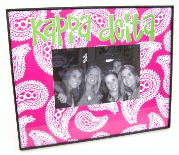 Paisley Picture Frame - Kappa Delta
