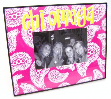 Paisley Picture Frame - Chi Omega