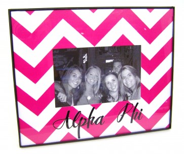 Chevron Picture Frame - Alpha Phi
