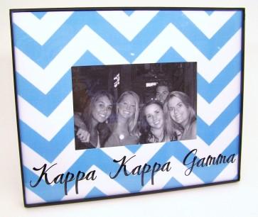 Chevron Picture Frame - Kappa Kappa Gamma