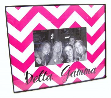 Chevron Picture Frame - Delta Gamma