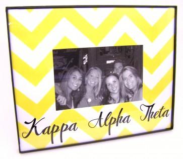 Chevron Picture Frame - Kappa Alpha Theta