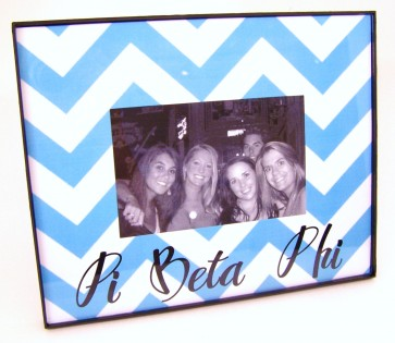 Chevron Picture Frame - Pi Beta Phi