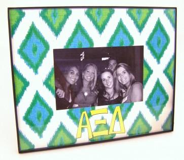Ikat Picture Frame - Alpha Xi Delta