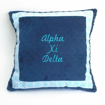 Alpha Xi Delta Minky Dot Pillow