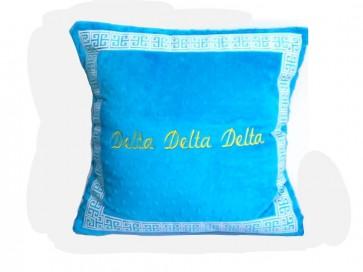 Delta Delta Delta Super Soft Minky Dot Pillow