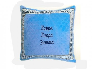 Kappa Kappa Gamma Super Soft Minky Dot Pillow