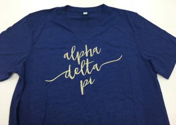 Sorority Script Fashion Tee - Alpha Delta Pi