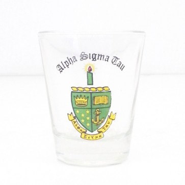 Alpha Sigma Tau Mini Glass