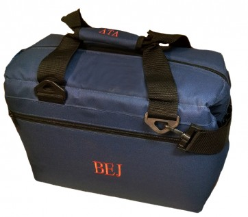 """12-Pack """"Premium"""" Monogrammed Soft-Sided Cooler (with Handle Monogram Option)"""