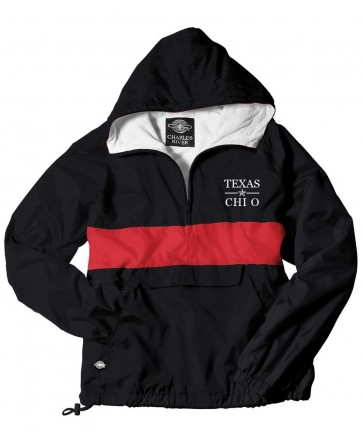 CHI OMEGA BLACK/RED RAIN JACKET FALL 2016