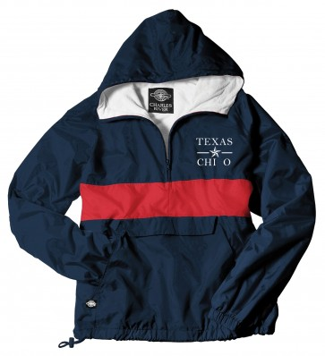 CHI OMEGA NAVY/RED RAIN JACKET FALL 2016