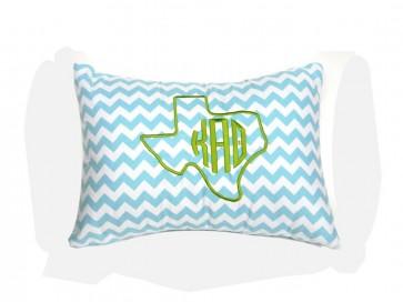 Theta Texas Monogram Chevron Travel Pillow