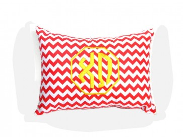 Chi Omega Monogram Chevron Travel Pillow