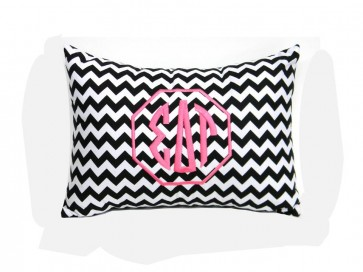 Sigma Delta Tau Monogram Chevron Travel Pillow