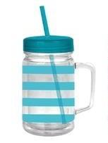 Turquoise Acrylic Mason Jar