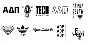 ADPi TT Game Day and Event Black Tattoos