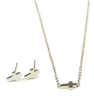 Faith in Fashion Earring & Necklace Set