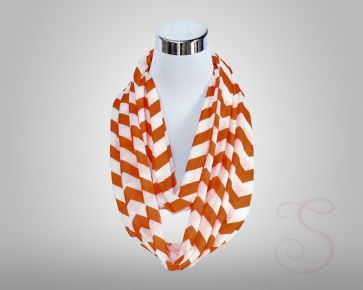Rivalry Flask Scarf!-White/Orange