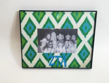 Ikat Picture Frame - Zeta Tau Alpha
