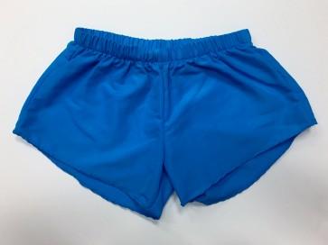 Neon Blue Nylon Shorts