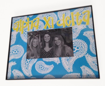 Paisley Picture Frame - Alpha Xi Delta
