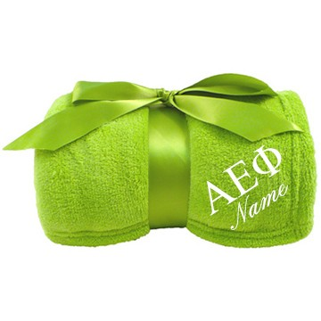 Custom Embroidered Plush Blanket for Alpha Epsilon Phi