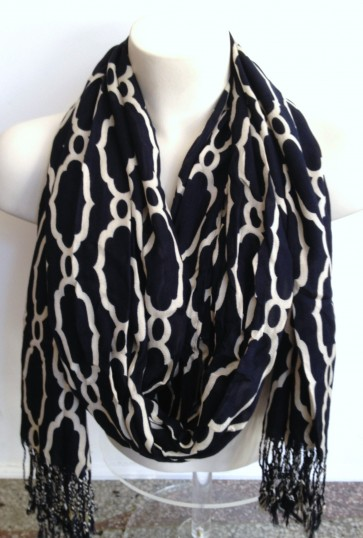 Spartina 449 - Sallie Ann Navy Viscose Scarf