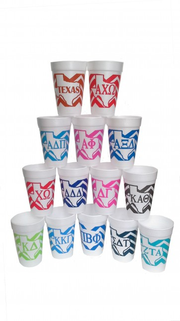 Alpha Chi Omega Styrofoam Cups - Set of 10