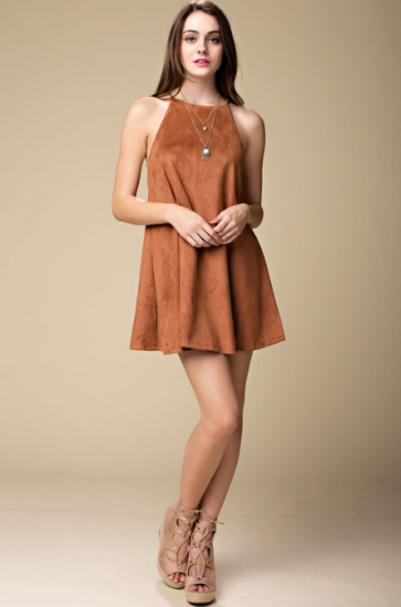 Brick Suede Dress