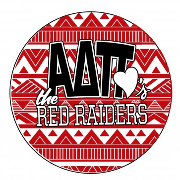 ADPi TT Loves the Red Raiders Button