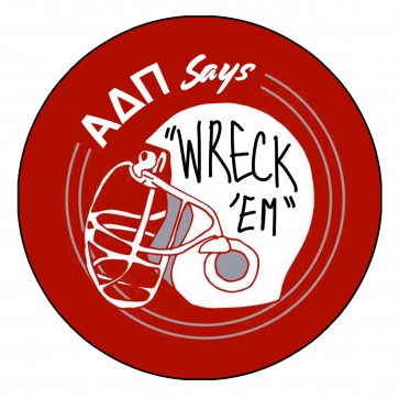 ADPi TT Game Day Wreck Em Button