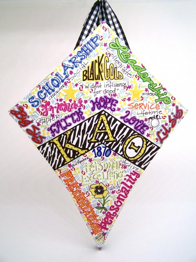 Theta kite sorority wall hanging decoration melissa 39 s for Decoration kite
