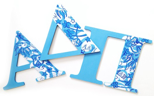 alpha delta pi lilly print wall letters