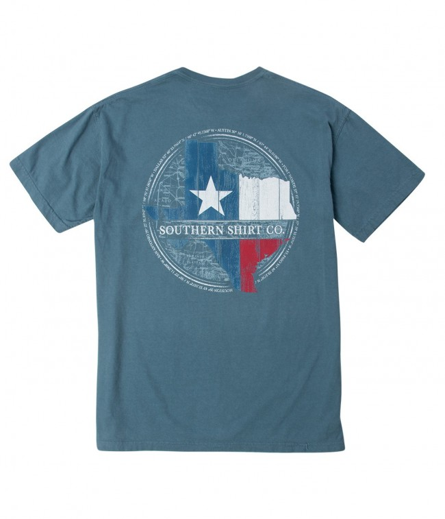 Southern shirt company wooden texas state t shirt for Texas tee shirt company